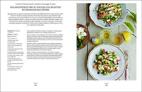 image salade d'épeautre au poulet courgettes et fromage de chèvre à la romaine eleonora galasso éditions du chêne