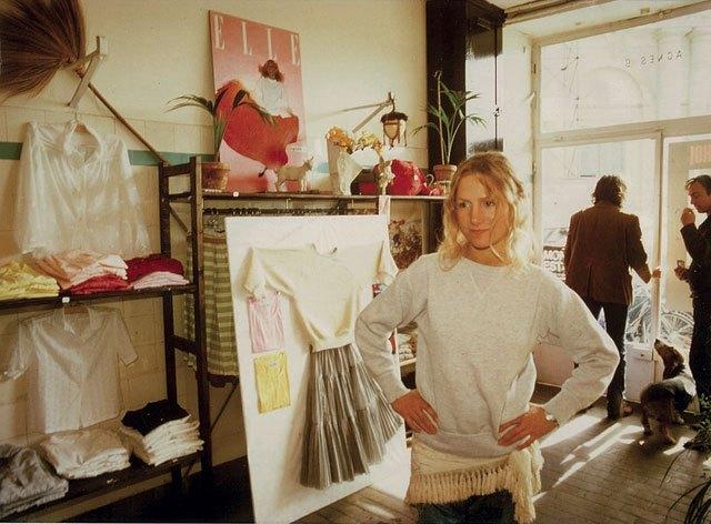 image agnès b. boutique rue du jour en 1976