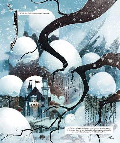 image planche 1 blanche neige lylian nathalie vessillier éditions delcourt