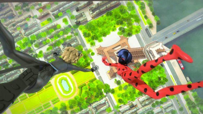 image série animée miraculous chat noir et ladybug tour eiffel tf1 vidéo