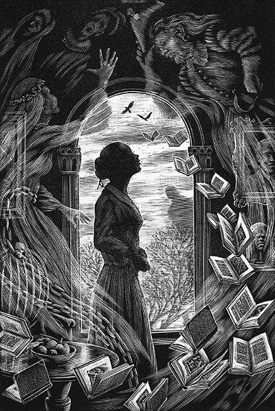 image illustration l'amie des fantômes contes des particuliers