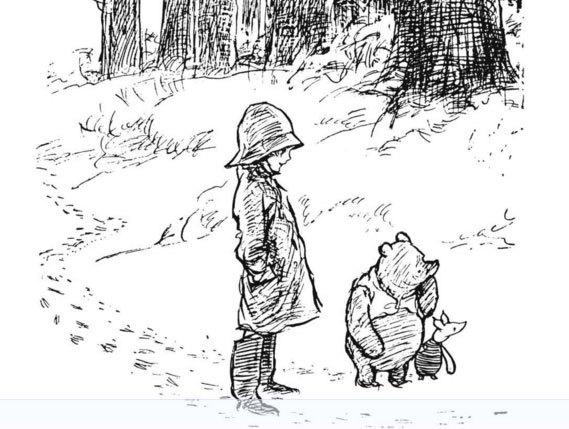 image illustration christophe robin et winnie e. h. shepard la maison de winnie l'ourson a. a. milne gallimard jeunesse