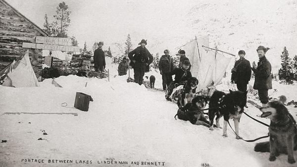 image photo archive prospecteurs et chiens yukon les vies de jack london éditions de la martinière