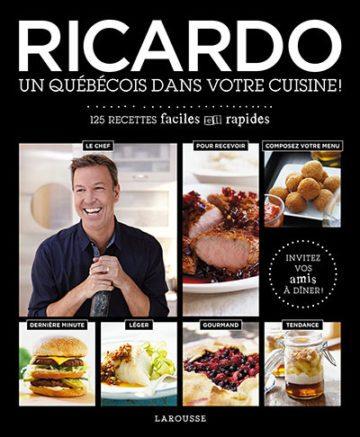 image couverture un québécois dans votre cuisine ricardo larousse