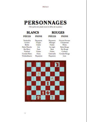 image page préface pièces d'échecs illustration benjamin lacombe alice de l'autre côté du miroir éditions soleil