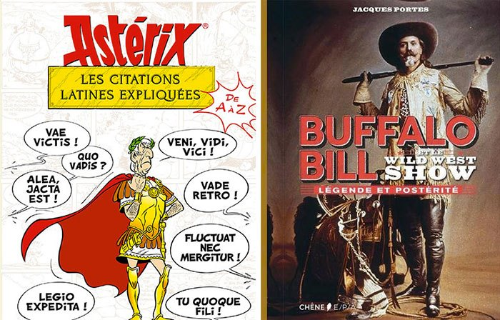 image couvertures astérix les citations latines buffalo bill et le wild west show éditions du chêne