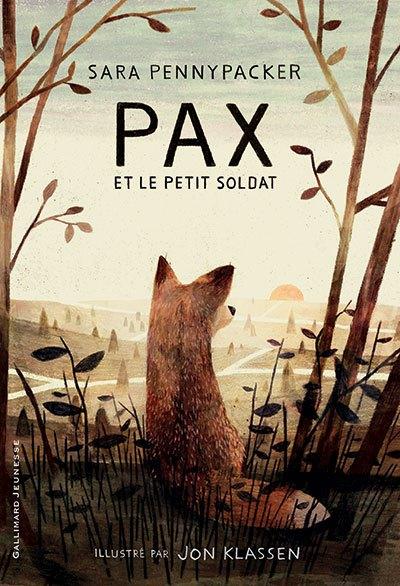 image couverture pax et le petit soldat sara pennypacker gallimard jeunesse