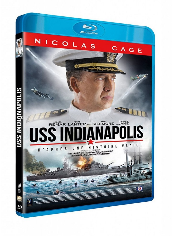 image boitier blu ray uss indianapolis