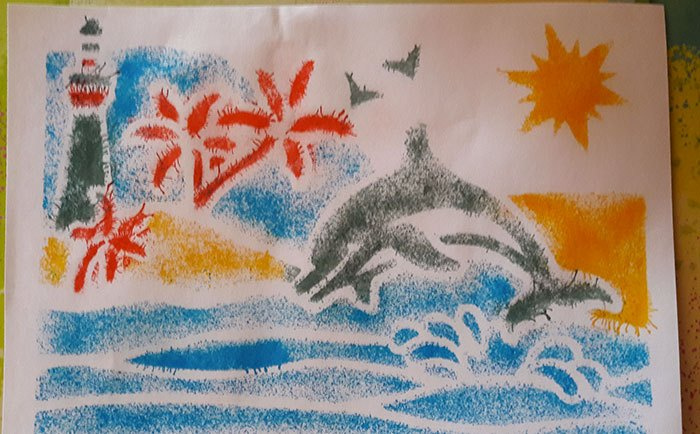 image résultat final dessin dauphin mallette pupitre mini blopens