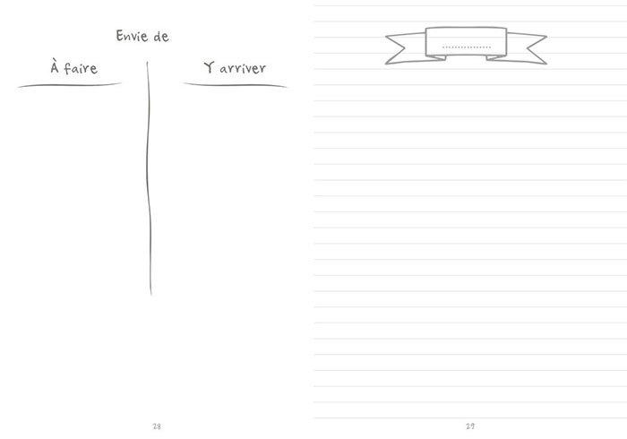 image double page listes agenda créatif à personnaliser bullet time éditions du chêne