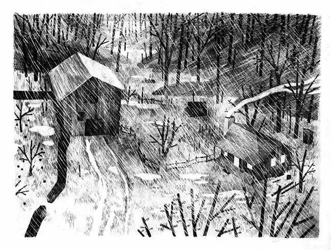 image illustration grange par jon klassen pax et le petit soldat