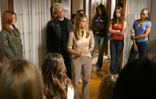 image alyson hannigan james marsters sarah michelle gellar eliza dushku buffy saison 7 épisode 22 chosen discours
