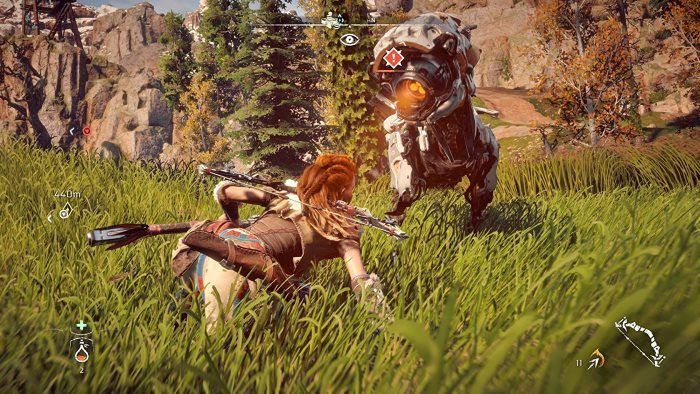 image gameplay horizon zero dawn