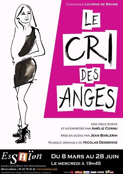 image affiche le cri des anges amélie cornu mise en scène jean barlerin