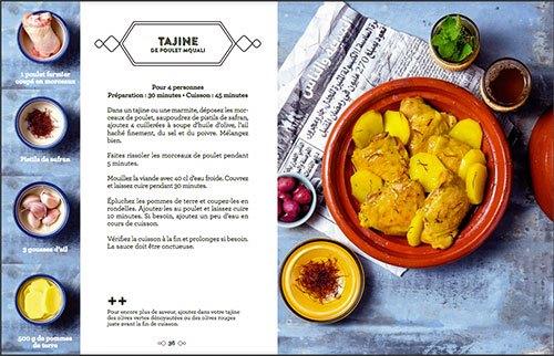image double page tajine de poulet mquali éditions mango