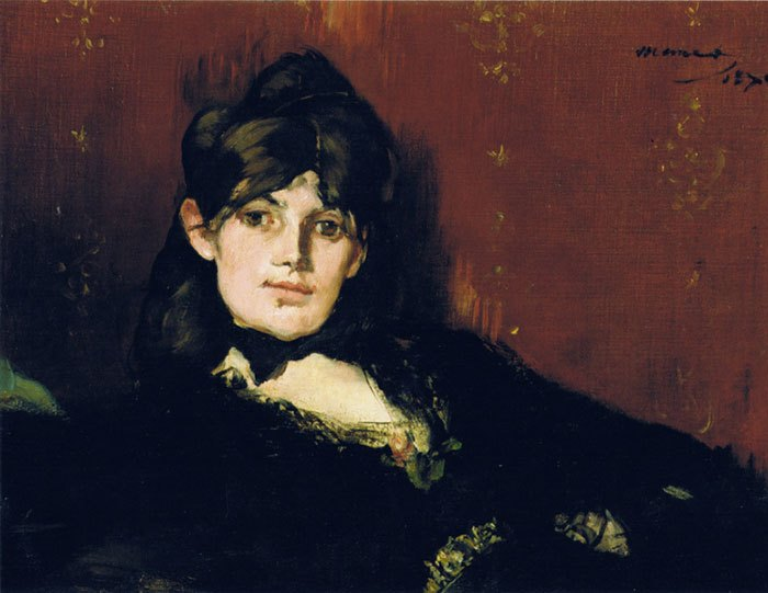 image peinture berthe morisot étendue edouard manet 1873