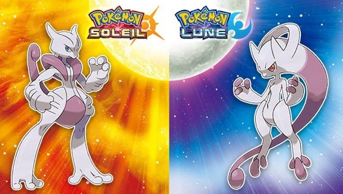 [News- Jeux vidéo] Pokémon Soleil et Lune : gagnez 2 Méga-Gemmes pour Mewtwo