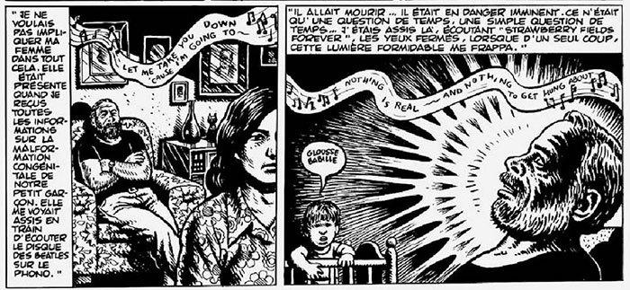 dessin philip k. dick épiphanie rayon rose par robert crumb weirdo numéro 17
