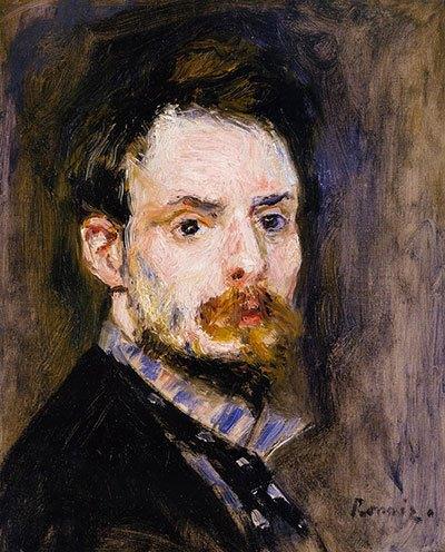 image peinture autoportrait auguste renoir 1875