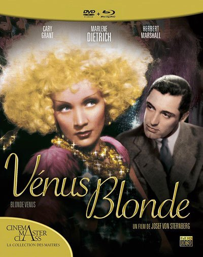 image jacquette coffret blu-ray dvd venus blonde elephant films