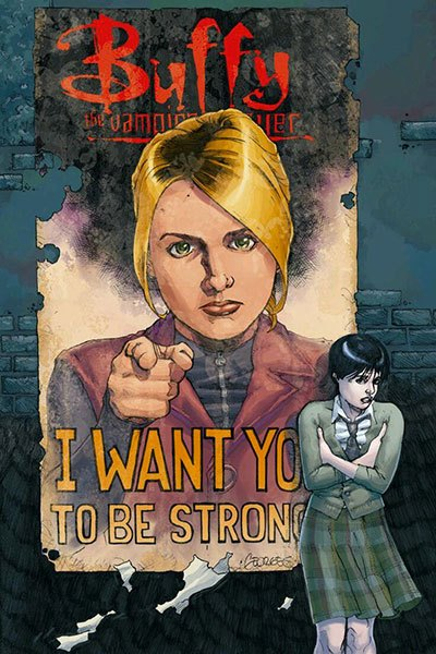image illustration george jeanty i want you to be strong buffy contre les vampires comics saison 8 volume 1