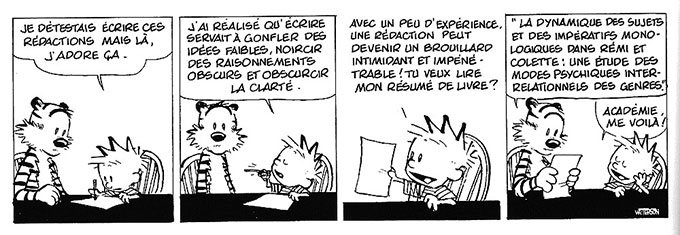 image strip rédaction calvin et hobbes