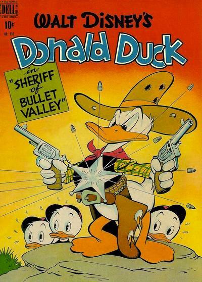 image couverture one shots 199 carl barl donald duck le shérif du val mitraille