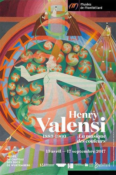 image affiche exposition henry valensi la musique des couleurs musée du château des ducs de wurtemberg montbéliard