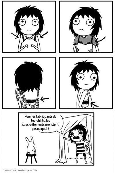 image strip soutien-gorge les adultes n'existent pas sarah andersen éditions delcourt