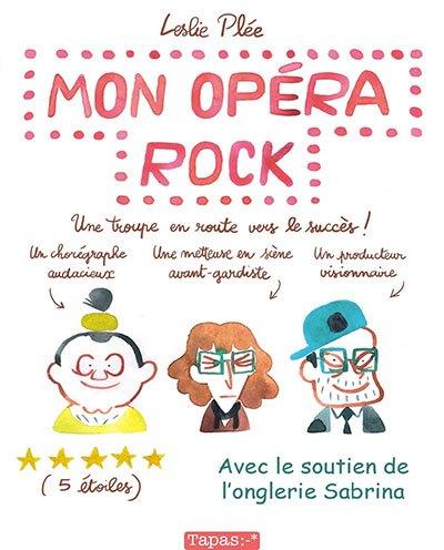 image couverture mon opéra rock leslie plée éditions delcourt