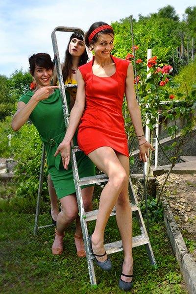 image laurine arcel emilie souillot céline koenig trio cosmos jardin