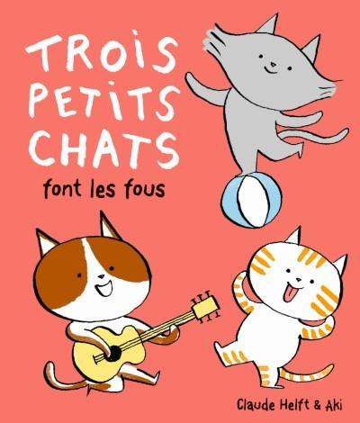 image trois petits chats font les fous