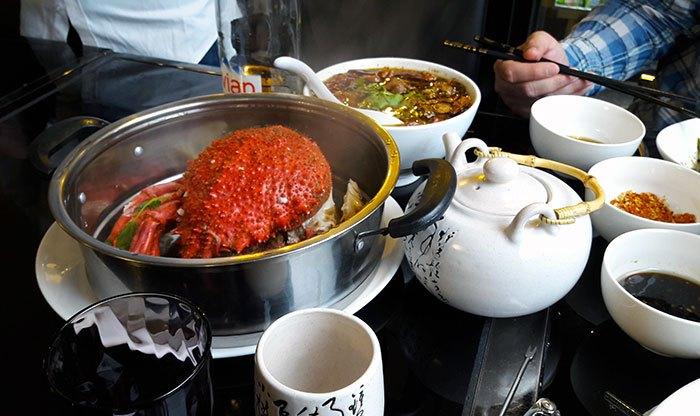 image araignée de mer vapeur fresh steam tower restaurant chinois 0 d'attente