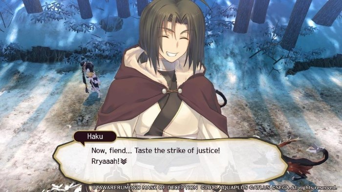 image jeu utawarerumono mask of deception