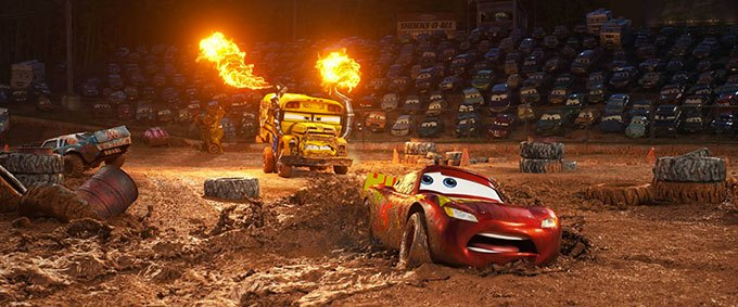 image course chemin boueux flash mcqueen cars 3 disney pixar