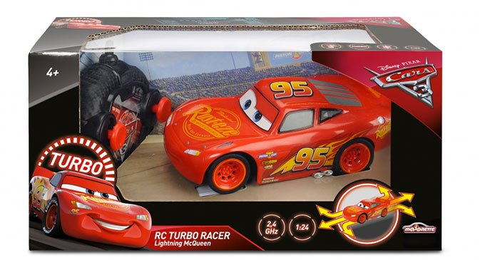 image boîte majorette disney cars 3 voiture radioommandée turbo racing lightning mcqueen flash mcqueen