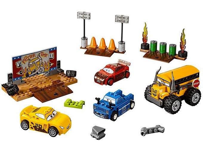 image visuel kit pack cars 3 le super 8 de thunder hollow lego juniors