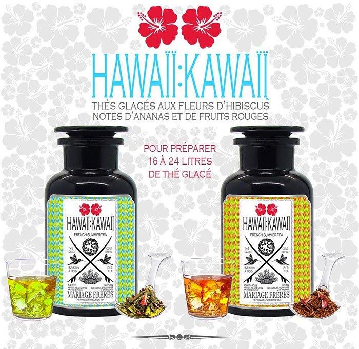image thés glacés hawaii kawaii mariage frères