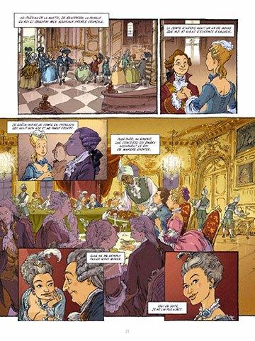 image planche 21 mémoires de marie-antoinette tome 1 versailles noël simsolo isa python éditions glénat