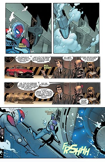 image planche vo base sous-marine all-new amazing spiderman tome 1 dan slott giuseppe camuncoli