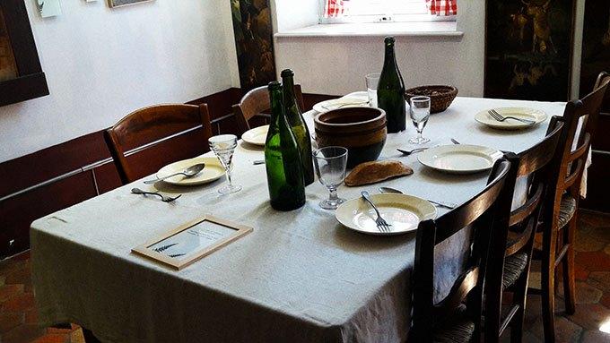 image salle à manger auberge ganne barbizon
