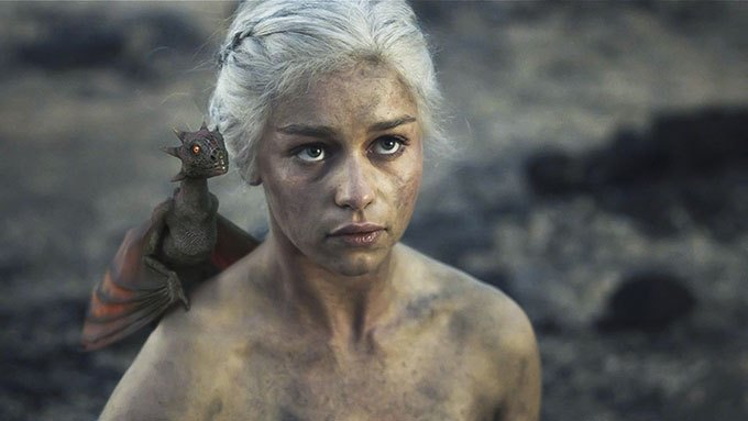 image emilia clarke daenerys mother of dragons game of thrones hbo