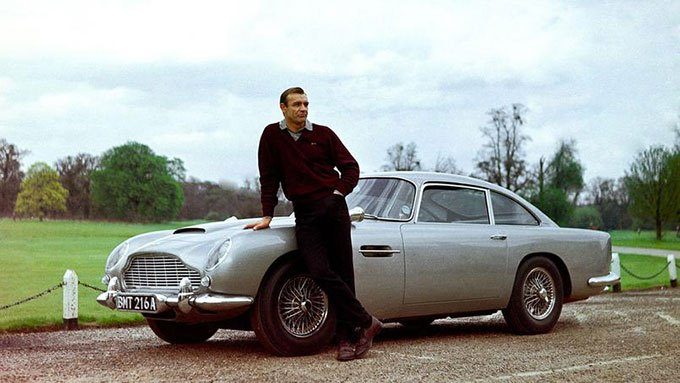image sean connery james bond aston martin