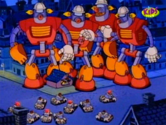 image rapetou contre police les robots se déchaînent la bande à picsou