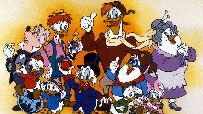 image visuel promo personnages la bande à picsou série disney originale