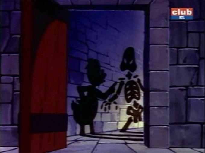 image picsou squelette ombres chinoises l'hôtel strange duck la bande à picsou