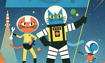 image gros plan couverture mission cosmos le cahier d'activités du professeur astrocat gallimard jeunesse