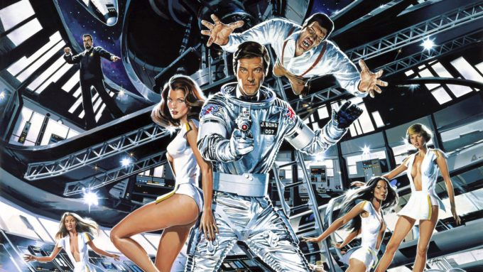 image visuel affiche moonraker james bond lewis gilbert