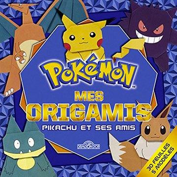 image pochette pokémon mes origamis pikachu et ses amis les livres du dragon d'or