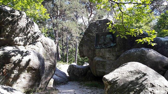 image médaillon théodore rousseau jean-françois millet forêt de fontainebleau porte aux vaches